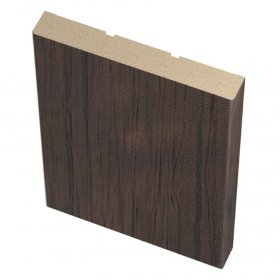 Laminuotų durų apvadai (plokšti) UNIDOORS, tamsus medis, 70x8x2150 mm, 2,5 vnt.