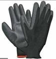 Pirštinės poliesterinės HERVIN, juodos, aplietos poliuretanu, dydis XL(10), PLP003