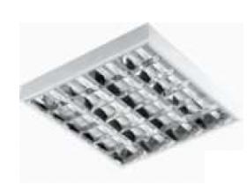 Liuminescencinis šviestuvas ORRO Grille 4 x 18 W V/T IP-20, T8, be balasto, 600 x 600 mm, N