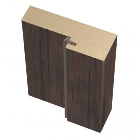 Laminuotų durų stakta su tarpine UNIDOORS, tamsus medis, 40/70x26x2070 mm, 2,5 vnt.