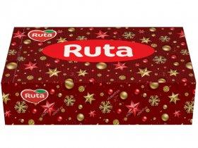 Kosmetinės servetėlės RUTA, 150 vnt., 2 sluoks., kalėdinėje dėžutėje