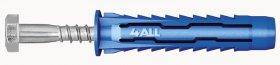 Universalus kaištis 4ALL RAWLPLUG, 12 x 60 mm su medraigčiu šešiakampe galva, 4 vnt.