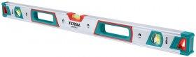 Gulsčiukas TOTAL, magnetinis, 120cm, 3 akutės, aliumininis korpusas, storis 1,5 mm, TMT21205M