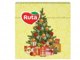 Kalėdinės servetėlės RUTA, 33 x 33 cm., 20 vnt., 2 sluoks., eglutė