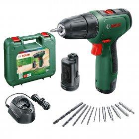 Akumuliatorinis suktuvas BOSCH Easy Drill 1200 Green, 12 V, 2x1,5 Ah