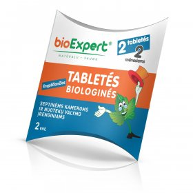Biologinės tabletės lauko tualetų priežiūrai   2 tabletės.
