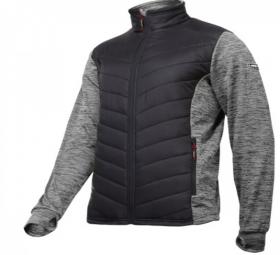Džemperis LAHTI PRO, pašiltintas, pilkai-juodas, XL dydis, CE