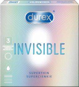 Prezervatyvai DUREX, Invisible Extra Sensitive, 1 vnt.