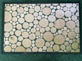 Kilimėlis RICCO ECO, 40 x 60 cm, kelmų imitacija, 100% poliesteris ant gelinio sluoksnio, 623-009, N