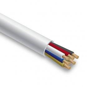 Apsaugos sistemų kabelis SPECTRA SS6 daugiagyslis, baltas PVC,