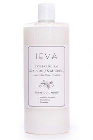 Skystas muilo papildymas IEVA, acai uogų ir migdolų aromato, 1000 ml., su baltu kamšteliu