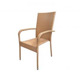 Kėdė NOVELLY HOME L17-D1059, 55 x 63 x 95 cm., metalas, sintetinis ratanas, šviesiai ruda