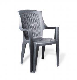 Plastikinė kėdė EDEN, 60 x 62 x 89 cm., pilka, maks. apkrova iki 120kg