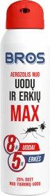 Aerozolis nuo uodų ir erkių BROS MAX 90 ml.