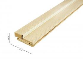 Laminuotų durų stakta PRAGA su tarpine, reguliuojama, blizgi mokka, 70x28x2070 mm, 1vnt.