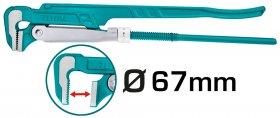 "Santechninis raktas TOTAL, 2"", iki 67 mm, 90 laipsnių THT172021"