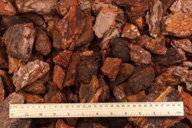 Pušų žievės mulčias, gabalėliais, frakcija 30-70 mm, 50 l
