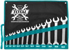 Raktų rinkinys TOTAL, plokščių, 12vnt., 6-32 mm, THT1023121