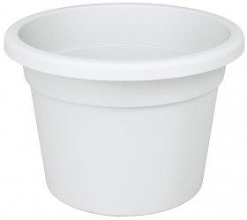 Plastikinis kambarinis vazonas NICOLI PREMIUM, 25 cm., baltas