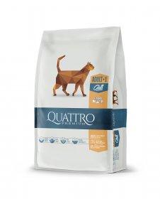 Sausas kačių ėdalas QUATTRO Extra Poultry, su paukštiena, 1,5kg