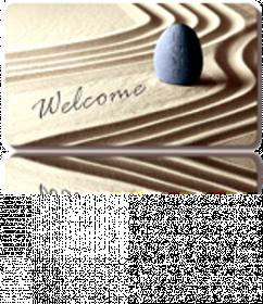 Kilimėlis RICCO ECO, 40 x 60 cm, smėlio imitacija, 100% poliesteris ant gelinio sluoksnio, 623-010, N