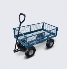 Sodo vežimėlis HERVIN EQUIPMENT, keturratis, plieninis tinklelis, apkrova iki 150 kg, 100 × 50 × 53/86 cm, GC-024