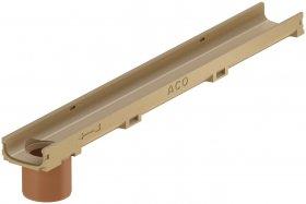 Latakas su PVC vamzdžiu ACO Euroline 60, L-1m, 810010