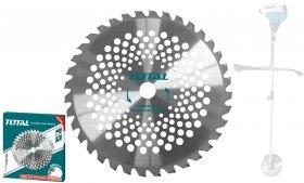 Pjovimo diskas TOTAL, benz. krumapjovei, skersmuo 25,4mm, 40T, 230mm, TAC234615