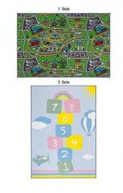 Kilimas TEP DUO, 133 x 190 cm, vaikiškas, dvipusis, keliukas/skaičiai, 100 % poliamidas, Egiptas