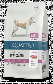 Sausas šunų ėdalas QUATTRO Extra Lamb, su ėriena, 3kg