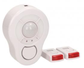 Mini aliarmas ORNO, Wi-Fi, su pultu, 360°, 85 dB, 4 x AA (komplektacijoje nėra), pulto baterijos 3 x LR44 (komplektacijoje yra), 02199S