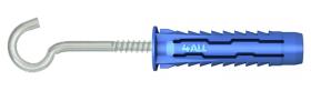 Universalus kaištis 4ALL RAWLPLUG, 6 x 50 mm su uždaru kabliu, 10 vnt.
