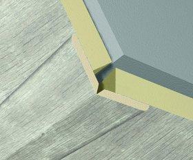 Kampas universalus KRONO ORIGINAL L004, lankstomas laminuotos 3D sienų dangos MDF K060 apdailai, 2600x22x22 mm