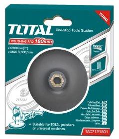Guminis padas TOTAL, vilnos ir šlifavimo poperiui, 180 mm, M14x2 TAC7121801
