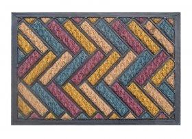 Kilimėlis RICCO TARTAN PLUS, 40 x 60 cm, 100% kokoso pluoštas ant PVC pagrindo, 872-100