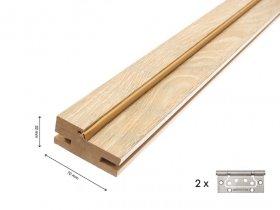 Laminuotų durų stakta su tarpine UNIDOORS reguliuojama, Matmenys 32x70x2070 mm, 2,5 vnt., canaletto