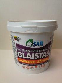 Akrilinis glaistas SAR, su marmuro užpildu, vidaus darbams, 1,5 kg (kibire)