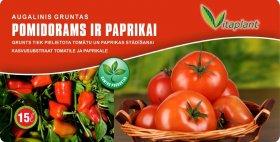 Augalinis gruntas pomidorams ir paprikoms VITAPLANT  15 l.