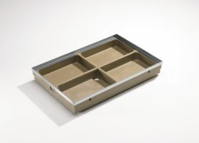 Grotelės ACO Vario, cinkuoto plieno, 60 x 40 cm, akutė 9 x 31 mm, 01207