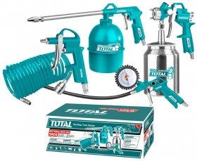 Įrankių rinkinys TOTAL, pneumatinis, 5 dalių, TATK051