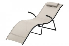 Sulankstomas gultas RINGO, su pagalvėle, plienas, maksimali aprova iki 150 kg., ST