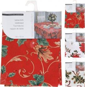 Kalėdinė staltiesė, įvairių sp., 130 x 180 cm.