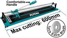 Plytelių pjovimo staklės TOTAL, pjovimo storis iki 12 mm, 600 mm, THT576004