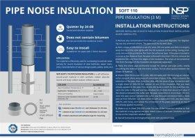 Izoliacija garsui vamzdyne slopinti Alenor NSP Soft PRO 110