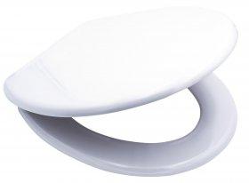 Klozeto dangtis RIDDER WHITE, lėto nusileidimo, duroplastas, baltas, 02126100