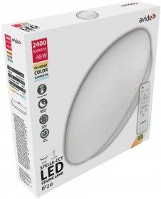 Lubinis LED šviestuvas AVIDE STELLA-CCT AT-6187, 48 W (24+24), 220-240 V, 5000 K, 2400 lm, IP20, su pultu, dimeriuojamas, 485 x 120 mm