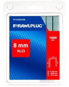 Kabės 8 mm RAWLPLUG, RL-53 tipas, 1000 vnt., RT-KSS05308