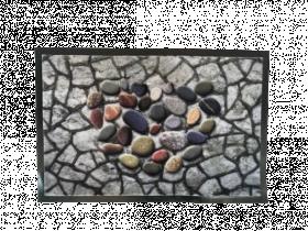 Kilimėlis POLO, 40 x 60 cm, akmenukai, 672-007