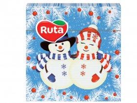 Kalėdinės servetėlės RUTA, 33 x 33 cm., 20 vnt., 2 sluoks., seniai besmegeniai