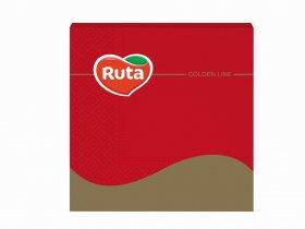 Servetėlės RUTA, 33 x 33 cm., 20 vnt., 3 sluoks., raudonos sp.